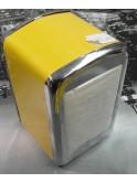 Boîte à serviettes de bar vintage jaune