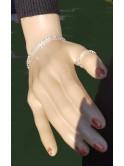 Ensemble bracelet et bague en strass très lumineux